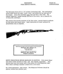 remington nylon 66 owners manual