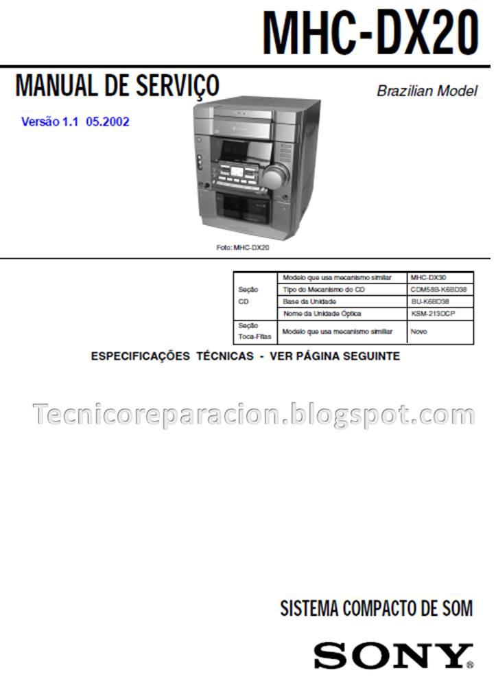 sony mhc-rg 20 manual