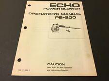 echo backpack blower pb-500t manual