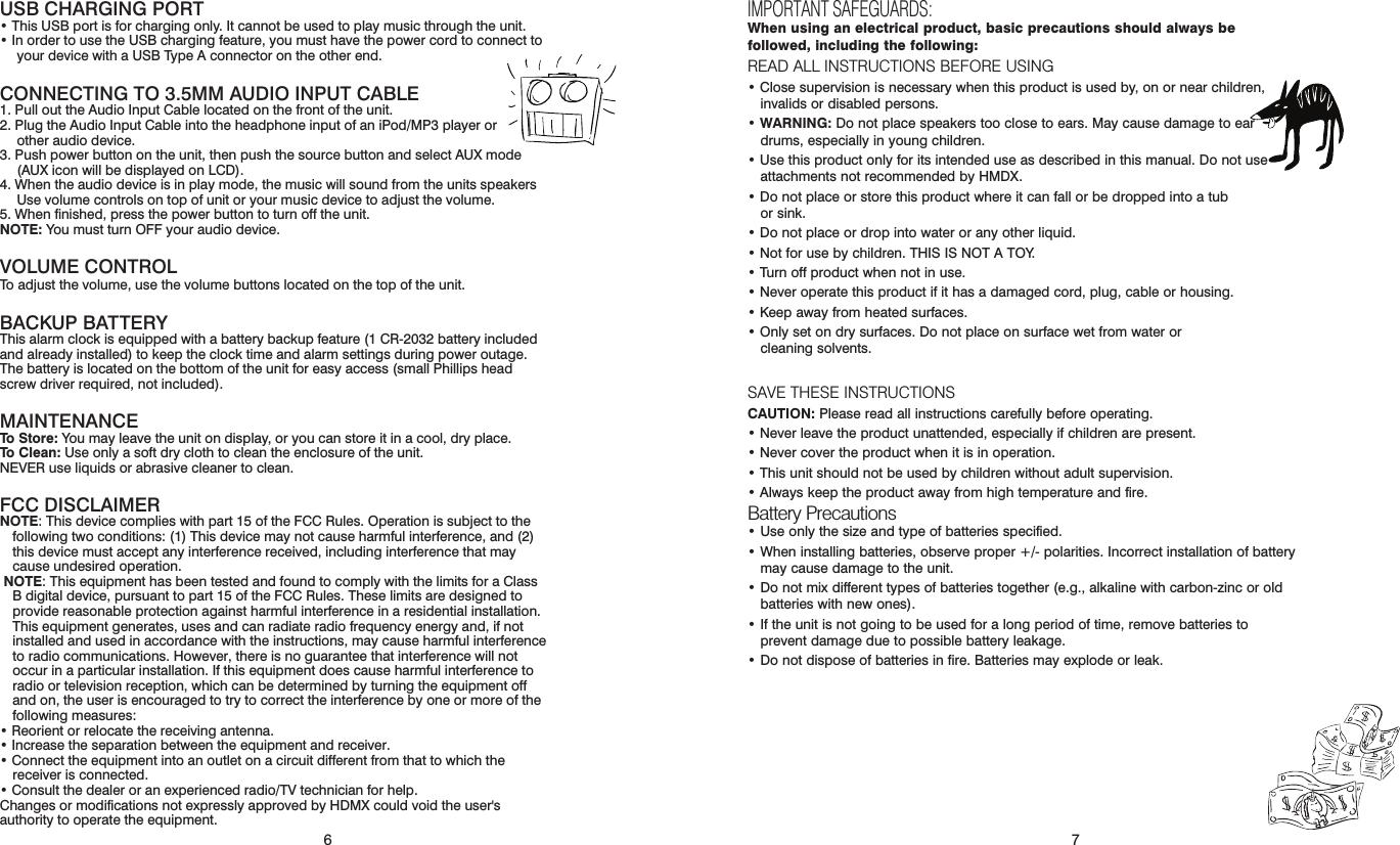 sharper image clock radio user manual