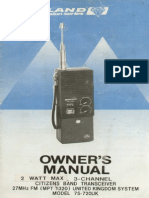 uniden walkie talkie 037z instruction manual