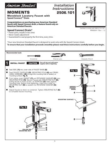 american standard installation manual for auy100r9v4w6