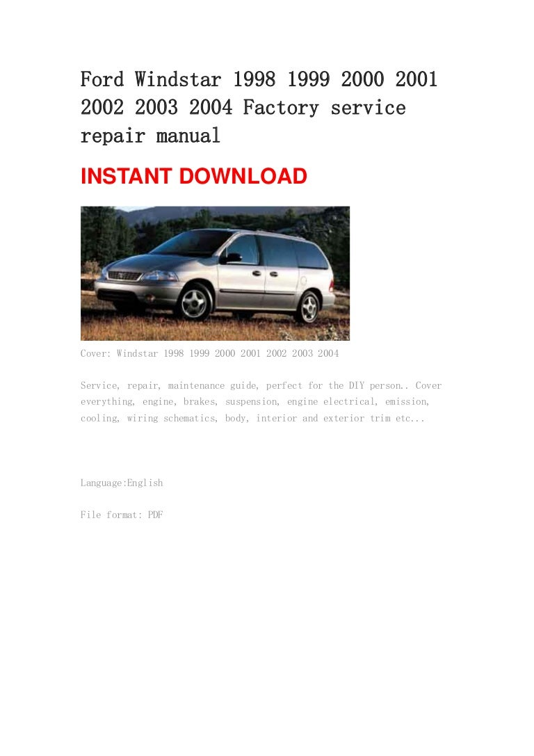 ford windstar 2001 altec stereo manual