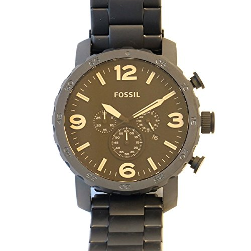 fossil nate chronograph black manual