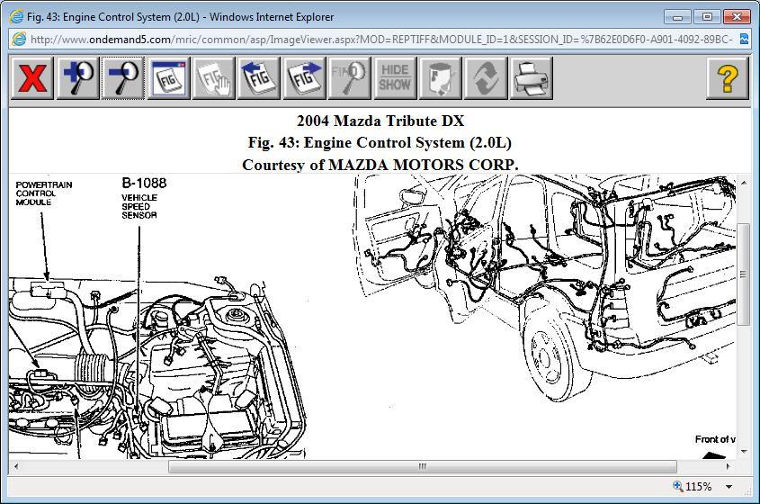 free mazda tribute 2005 service manual