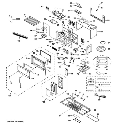 ge spacemaker microwave parts manual
