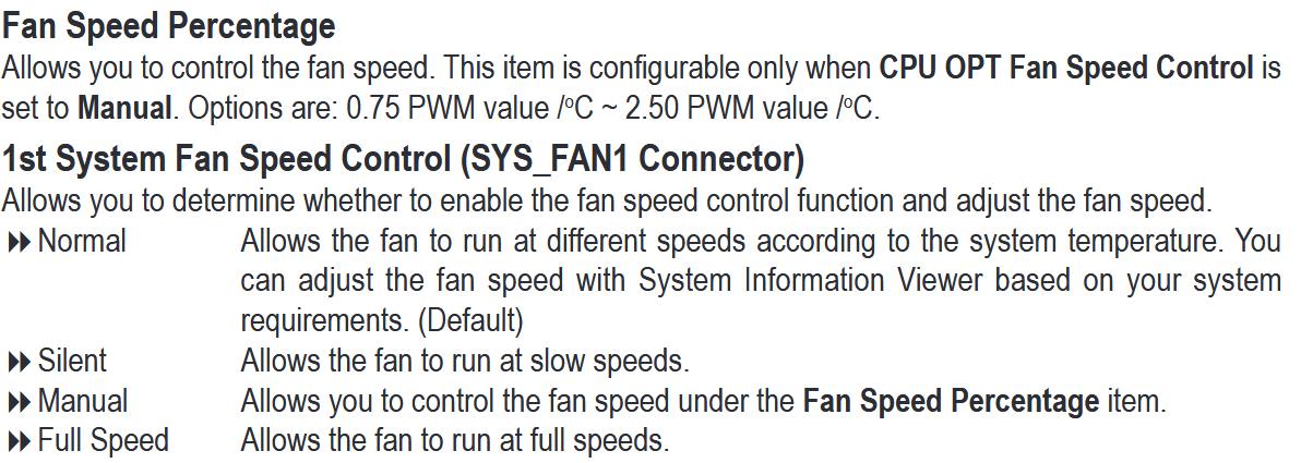gigabyte bios fan control manual percentage