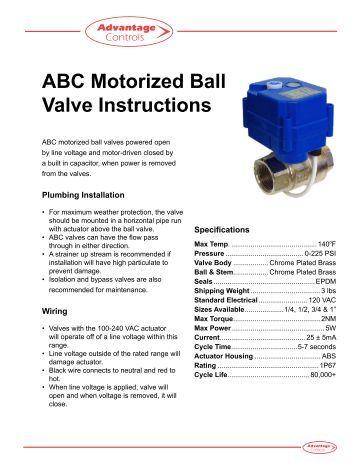hansen motorized control valve manual