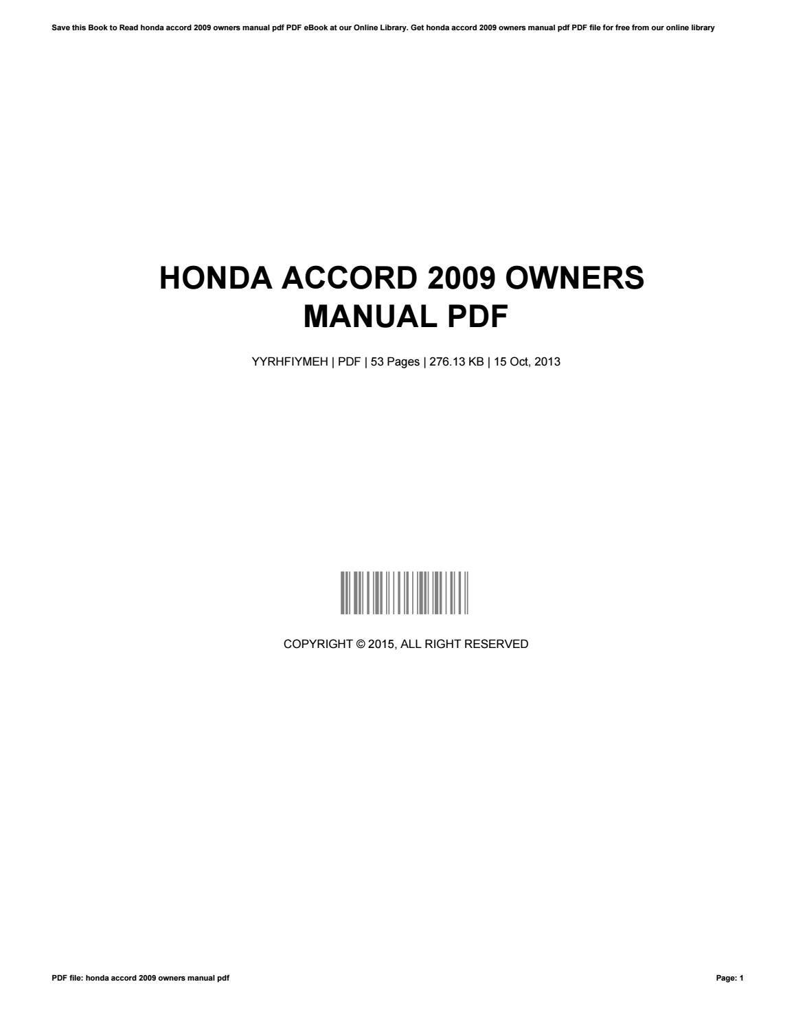 honda accord 2003 service repair manual