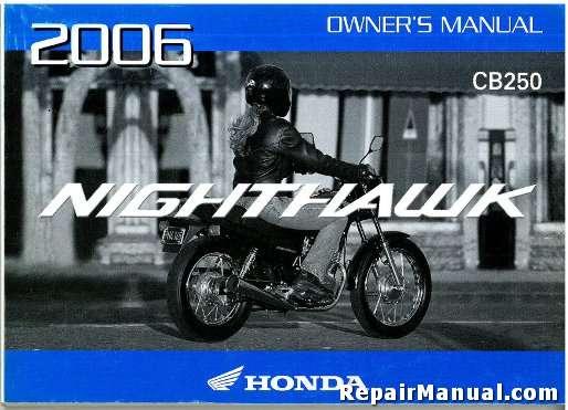 honda cb450 nighthawk owners manual