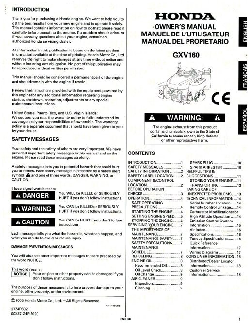 honda water pump wh20xtc manual