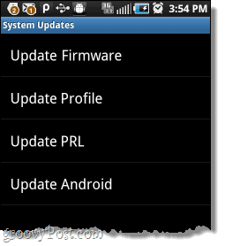 how do update on cell manually