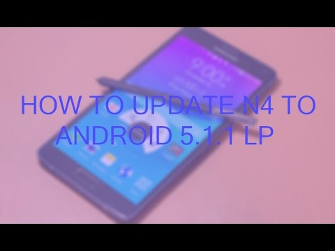 how to manually update note 4