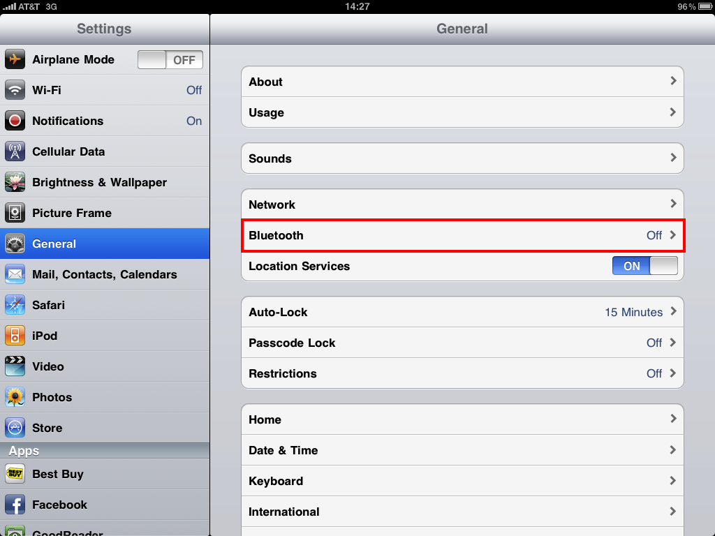 how to open bluetooth settings manually