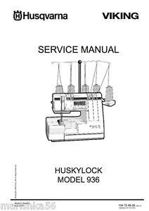 husqvarna designer 1 service manual