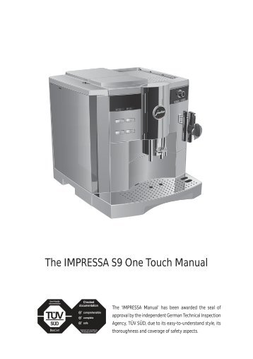 impressa c9 one touch manual