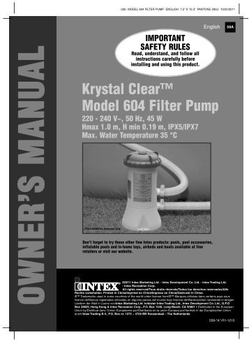 intex filter pump 603 manual