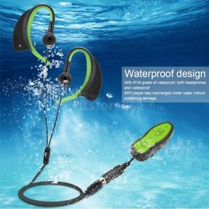 ipx8 fm mp3 player waterproof 4gb clip manual