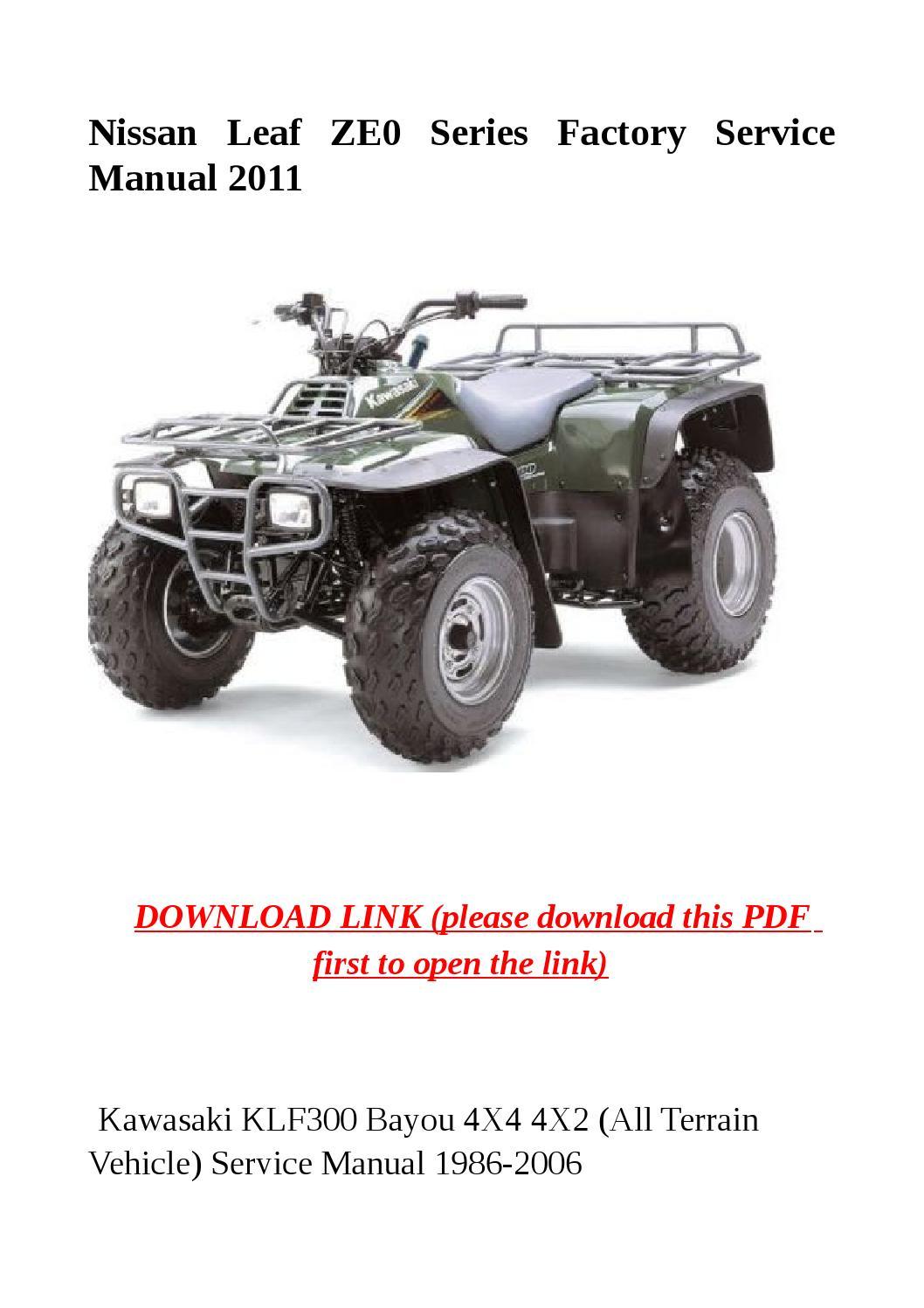 kawasaki 300 vtt service manual