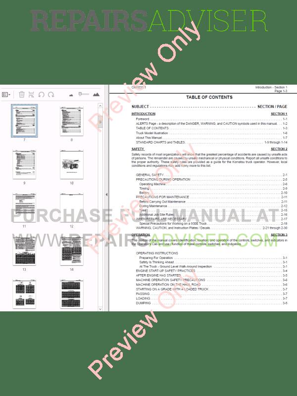 komatsu operation and maintenance manual pdf