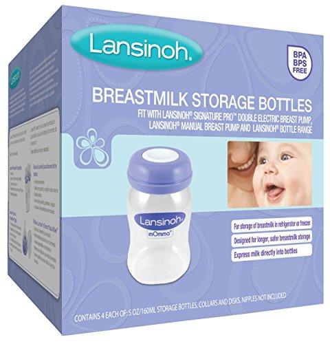 lansinoh manual breast pump bottles