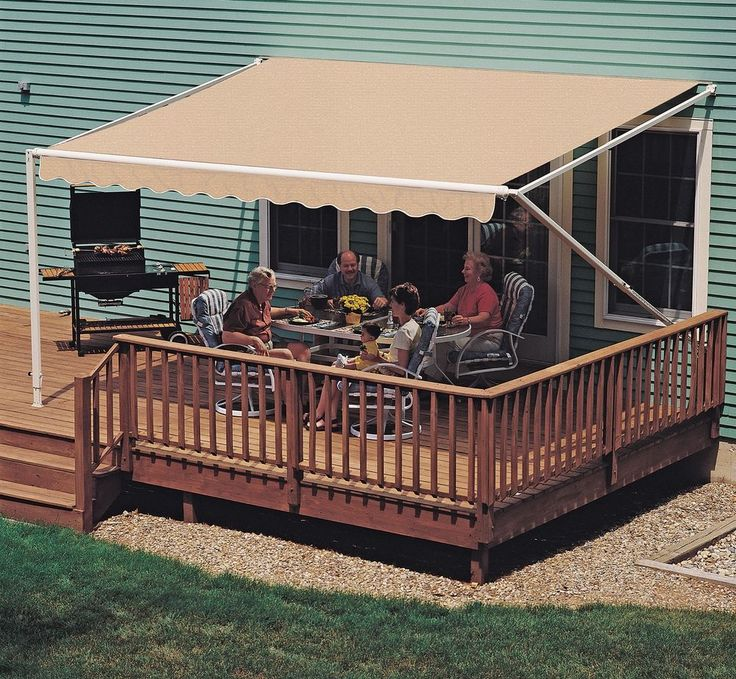 manual patio awning 10 feet by 8 feet