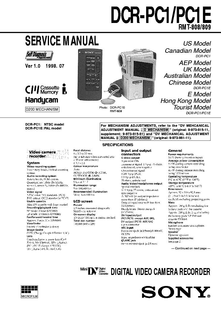 manual sony handycam hdr-xr160