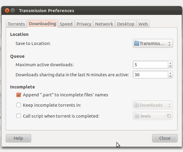 manually download torrents with transmission