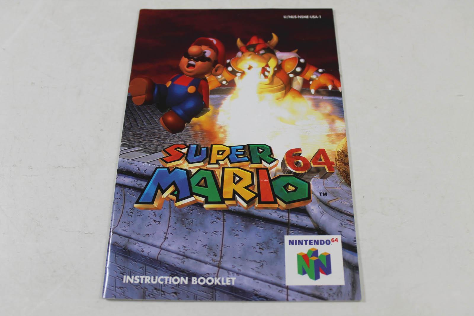 mario 64 box and manual
