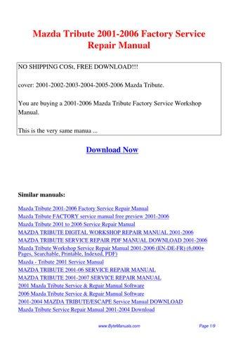 mazda 3 service repair manual pdf fr free