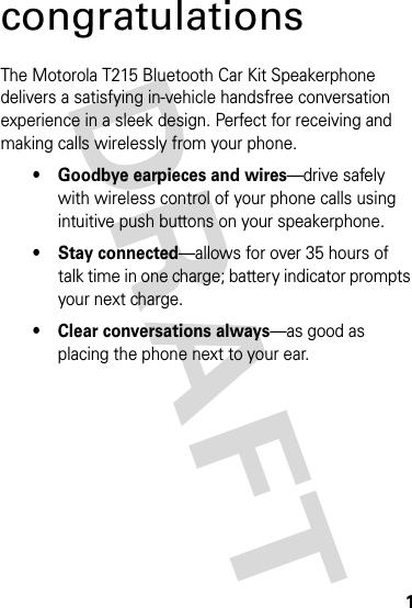 motorola bluetooth speakerphone t225 manual