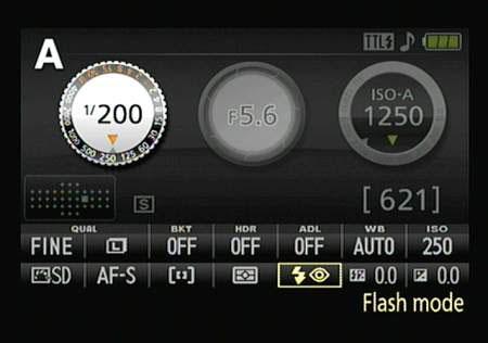 nikon d60 manual flash mode