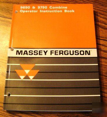 operators manual for 550 massey ferguson combine