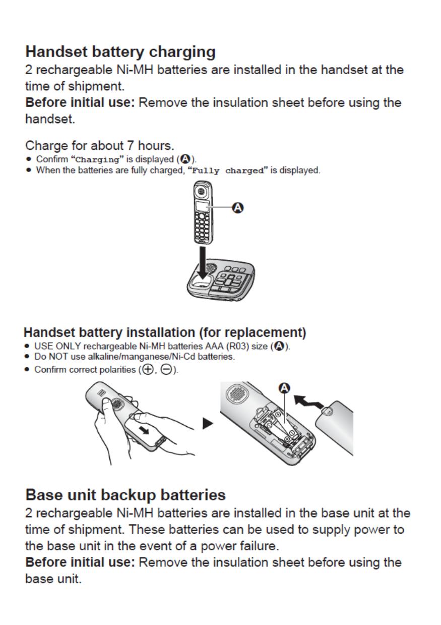 panasonic dect phone user manual