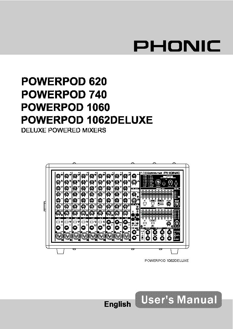 phonic 740 powerpod deluxe manual