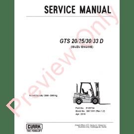 repair manual for a clark forklift model c500 25 1974
