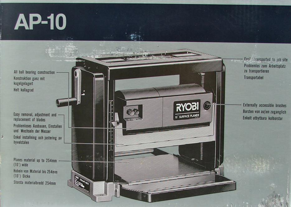 ryobi 10 surface planer manual
