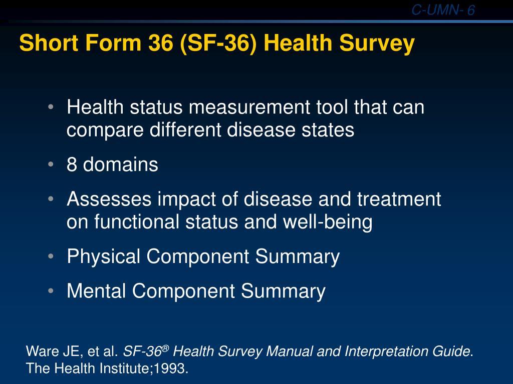 sf-36 health survey manual and interpretation guide 2000