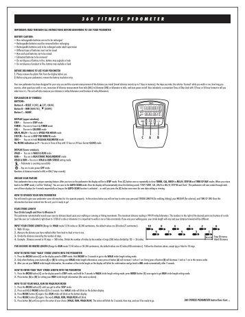 sportline fitness pedometer instruction manual