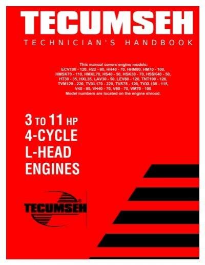 tecumseh 4 cycle engine manual hmsk-80