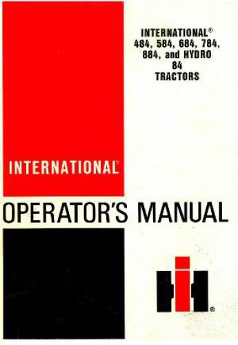 tracteur international hydro 84 manual service