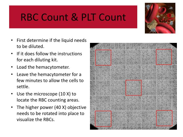 what is the preferred microscope for counting manual platelet counts