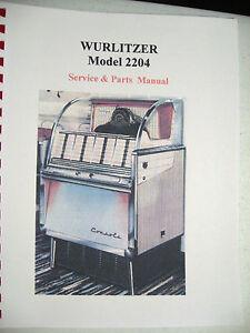 wurlitzer 3700 and 1050 manual