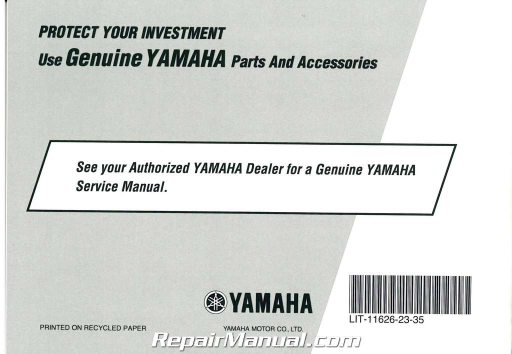 Yamaha Raider 1900 Service Manual