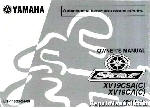 yamaha raider 1900 service manual