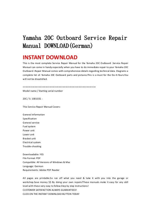 yamaha service manual outboard download